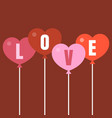 heart balloon with letters love vector image