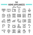 home appliances line icon set technology symbols vector image