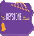Keystone State vector image