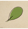 leaves green grunge paper texture distressed vector image