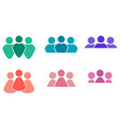 set of different multicolored icons of men and vector image