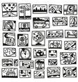travel - doodles vector image