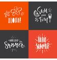 Summer Handdrawn Lettering vector image