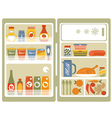 Open fridge 2 vector image