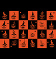 halloween seamless pattern wrapping paper for vector image