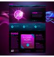 Web site template design Disco background vector image