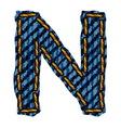 Farmerke tekstura slovo N vector image