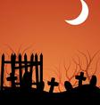 Halloween Graveyeard vector image vector image