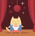 Character groom in a wedding suit colorful flat vector image