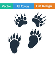 Flat design icon of bear trails vector image