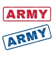 Army Rubber Stamps vector image