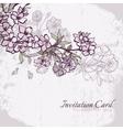 Blossom cherry or sakura wedding invitation card vector image