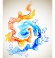 blue and red abstraction vector image