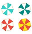 bright beach umbrellas vector image