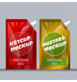 Digital red and brown ketchup and mustard vector image