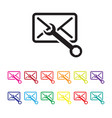 email configuration icon set vector image