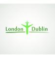 London - Dublin vector image