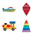 set of geometric toys vector image