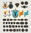 set of retro vintage badges and labels vector image
