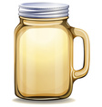Glass jar with aluminum lid vector image