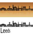 Leeds V2 skyline in orange vector image