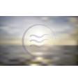 Ocean sunset Blur background vector image