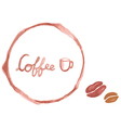 Watercolor coffee cup stains vector image