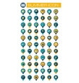 Summer pin map flat icon Summertime Vacation vector image