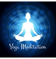 Meditation yoga woman silhouette vector image