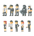 Flat design of police set vector image