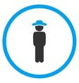 Gentleman Standing Circled Icon vector image
