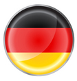 Germany flag button vector image