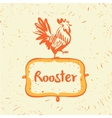 logo Chicken farm Products from chicken vector image