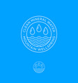 logo clear mineral water drops waves vector image