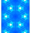Multicolor geometric pattern in bright blue vector image