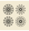 Round ornament set Circle and floral ornament vector image