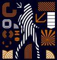 Stripe graphic elements vector image