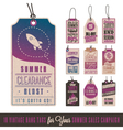 Summer Sales Hang Tags vector image