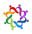 Teamwork helping social people logo vector image vector image