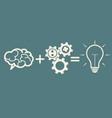 idea concept brain  gears  idea vector image