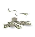 finance pile of cash dollar bill exchange vector image