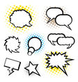 Set of speech bubble vector image vector image