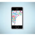 phone social network background with media icons vector image vector image