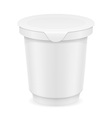 plastic container of yogurt or ice cream 01 vector image