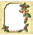 frame with holly vector image