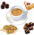 Coffee breakfast vector image