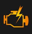 Engine check design vector image