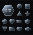 glass plates set triangle square pentagon circle vector image