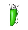 green bag with golf clubs vector image