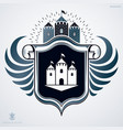 heraldic sign made with decorative elements vector image